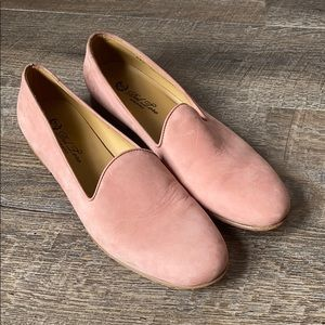Del Toro Pink Leather Loafers 10